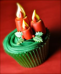 holiday, galleries, cups, christma candl, candl cupcak