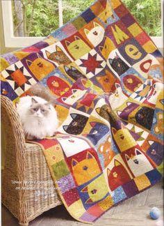 red boots, cat quilt, quilt blocks, quilt idea