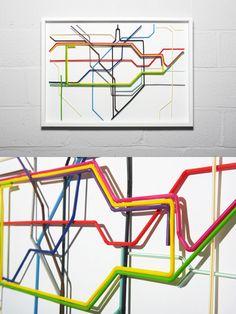 Drinking straws Underground map