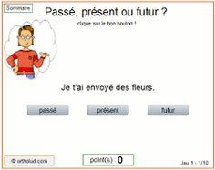 Orthoblog.fr: Jeux de conjugaison : présent, passé ou futur ?