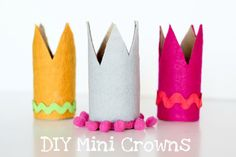 DIY toilet paper roll crowns from Finley and Oliver