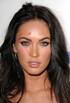 eyebrows face shape, perfect shaped eyebrows, megan fox eyebrows, perfect eyebrows how to, megan fox makeup how to, beauti, eyebrow shape for face, hair