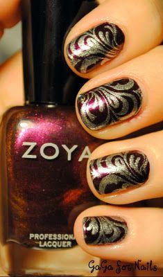 Zoya Jem + OPI Silver Sparkler.