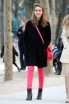 Jessica Alba in pink