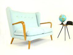 c.1950 Howard Keith Wingback Sofa love