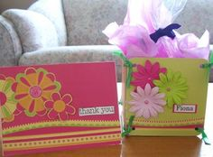 The Scrapbooking Housewife - altered chipboard boxes perfect to hold sweets - teacher gift idea