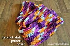 Easy Crochet Scarf – Ribbed Stair Pattern {Free Crochet Pattern}