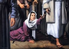 """One of my favorite Bible stories....Luke 8:45 Jesus said, """"who touched me""""?"""
