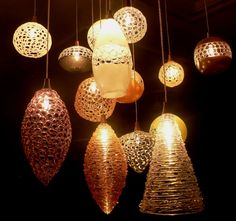 Glass blown lights!