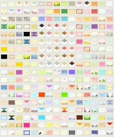 many free patterned printable envelope templates (from Canon Creative Park)