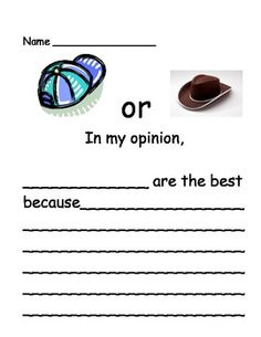 Opinion Writing: Favorite Clothes (Kindergarten, 1st grade, 2nd grade)