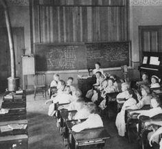 Interior view of the Liberty School in Las Virgenes, circa 1911. San Fernando Valley History Digital Library.