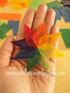 Kite Paper Waldorf Window Star Tutorial
