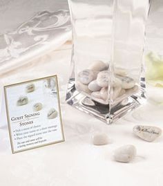 Wedding signing stones vase is a also a great guest book alternatives - makes for a great conversational centerpiece after the wedding!