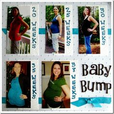 Baby Bump Scrapbooking Page