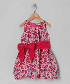 Take a look at this Cherry Flower Dress - Toddler & Girls by Sophie Catalou on #zulily today!