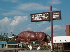 Angelo's Steak Pit Long Horn Saloon, Panama City Beach, FL panamacitybeach, angelos steak, place, panama city beach, citi beach, long horn
