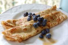 Recipe: Whole-Wheat Crepes (for breakfast or dessert!) INGREDIENTS 3 eggs1 cup whole-wheat flour1 cup milk¾ cup water1 tablespoon honey1 teaspoon vanilla¼ teaspoon salt1 tablespoon butter, melted + extra for cooking