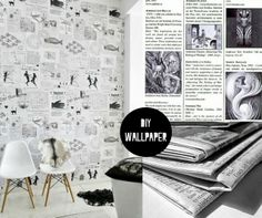 DIY : Recycled Paper Wallpaper