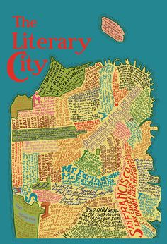 San Francisco Literary Map - a wooden jigsaw map of SF that visualizes its rich literary history http://www.amazon.com/gp/product/B00412544U/ref=as_li_tf_tl?ie=UTF8=liberalsprink-20=as2=1789=9325=B00412544U #typography #maps