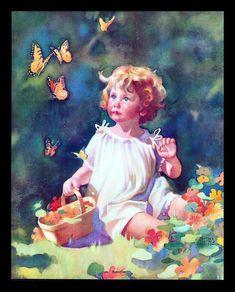 franc tipton, beauti illustr, butterflies, franci tipton, artist franc, art character, tipton hunter, hunter art, vintag illustr