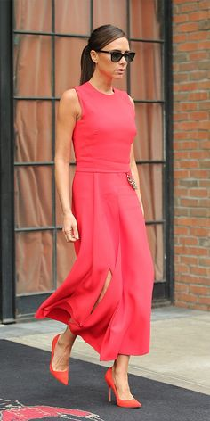 We're Tickled Pink By Victoria Beckham's Latest Look