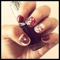 Utes nail art <3 ylopez0305  #utahutes #utahfootball #utesnails