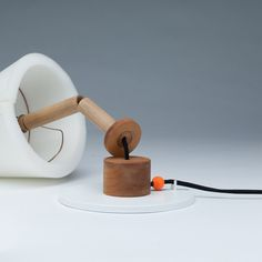 Collapse lamp by designer Hayo Gebauer. A lamp that falls off when switched off.