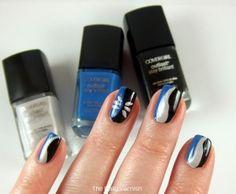 Carolina Panthers Nail Art