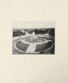 Darlington's electric fountains / by Frederick W. Darlington, 1899. Trade Catalogs.  Metropolitan Museum of Art, New York. Thomas J. Watson Library (b1819879x) | An image of what is now Grand Army Plaza, Brooklyn in the late 19th century.