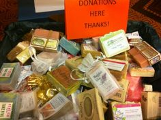 Bring your extra soap and personal care products to #soapconf14 and break 2013's donation records!