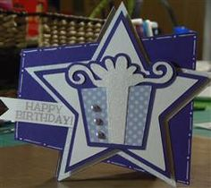 A fun and easy shaped card perfect for someone's special day! birthday star, card idea, scrapbook card, shaped cards, birthdays, cricut shop, cricutbirthday bash, cricut birthday, pressiebirthday card