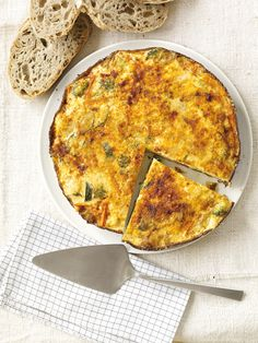 Vegetable Frittata from #FNMag #myplate #protein #grains #veggies #dairy