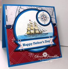 Father's Day Ship by stampcrave - Cards and Paper Crafts at Splitcoaststampers