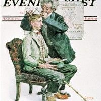 The Phrenologist Norman Rockwell March 27, 1926