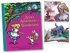 book wsign, robert sabuda, book worth, babi book, popup book, bookplat 2003, alic adventur, alice in wonderland, wonderland popup
