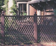 "Victorian Lattice - Exhibiting a precision and correctness, this Lattice fence is totally appropriate for an historical home. The 60-degree angles of the smooth 1 1/8"" wide battens set the Victorian Lattice apart from standard lattice (which is at 45 or 90-degree angles)."