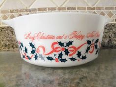 Christmas Pyrex // sold for $410