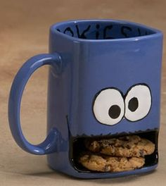 Googly Eyed Monster Ceramic Cookies and Milk Dunk Mug  by InAGlaze, $23.50