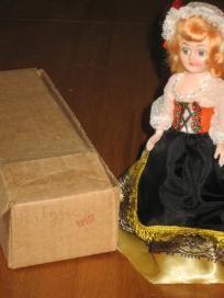 Blue Bonnet Belgium Vintage Plastic Doll