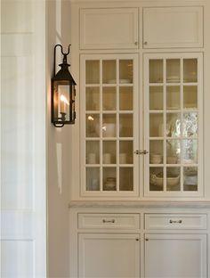 built-in cupboard...lantern