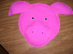 Pig Paper Plate plate fun, plate anim, plate craft, pig paper, plate activ, paper plates