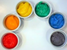 Home Made FINGERPAINT                         Recipe  1 cup corn starch  2cups water (more if needed)  3 tablespoons sugar  1teaspoon of salt