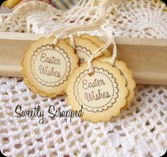 Happy Easter Tags Wishes Basket Labels Egg by SweetlyScrappedArt, $3.75