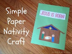 free template to make a paper nativity scene - easy craft for toddlers and preschoolers