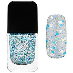 Formula X For Sephora - Xplosives Top Coats in Thunder - turquoise, lime, periwinkle and white confetti  #sephora #SephoraSweeps