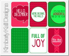 Free Very Merry Journal Cards from Kimberly Kalil Designs