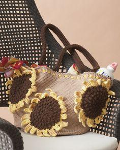 Sunflower Bag - free pattern to crochet!