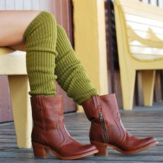 Scrunchy Socks in Green Tea