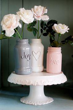 jar art, idea, craft, glue art, glass jar, paint, wine bottles, mason jars, diy